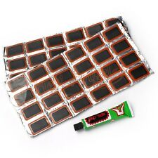 48PCS Bicycle Bike Tyre Tire Tube Puncture Repair Patch Kit Rubber Patches Glue