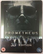 Prometheus 3D + 2D Steelbook - UK Exclusive Limited Edition Blu-Ray **Region 0**