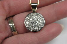 14 K YELLOW GOLD .54 CTS G VS2 DIAMOND CIRCLE PENDANT & 21 IN. BOX CHAIN
