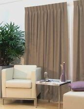 Curtain pair BLOCKOUT pinch pleat - 180cm wide x 221cm drop - Driftwood