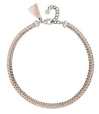 �� Mimco Brand New Victorious Blush Pink Silver Choker Necklace + Dust Bag