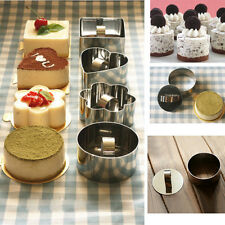New Round Stainless Steel Mousse Cake Ring Mold Cupcake Mould DIY Baking