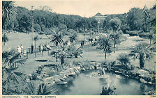 "BOURNEMOUTH ""Pleasure Gardens"" -1937 black & white postcard."