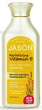 Jason Organic Revitalizing VITAMIN E Pure Natural SHAMPOO Vitamins A & C 473ml