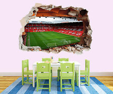 NEW 197 MANCHESTER UNITED STADIUM 3D STICKER FOOTBALL ROOM BOYS GIRL VINYL WALL