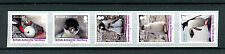 BAT British Antarctic Ter 2016 MNH Gentoo Penguin 5v Birds Penguins Coil Stamps