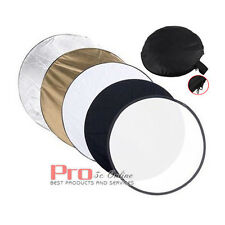 """110cm 5-in-1 Multi Lighting Reflector Collapsible Photo Studio Photography 43"""""""