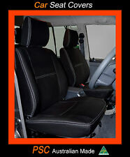 FRONT PAIR (2) PREMIUM FULL-BACK NEOPRENE SEAT COVERS - 100% FIT NAVARA NP300
