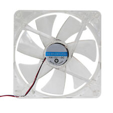14cm 140mm RED LED 12V 4Pin Computer PC Clear Case Cooler CPU Cooling LED Fan