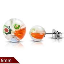 Ohrstecker Edelstahl Glas Kugel Murano multicolor hip Stecker Ohrring ME 306