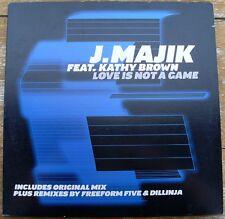 """J.Majik feat. Kathy Brown Love is not a game 12"""" used Vinyl Drum 'n Bass 2001"""