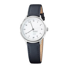 Mondaine Women's MH1R1210LB 'Helvetica No. 1 Regular' Black Leather Watch