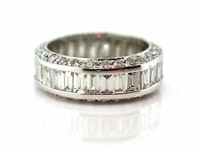 5.08 CT Baguette & Round Diamond Eternity Band VS1/G White Gold