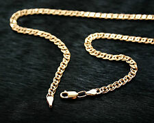 585 14k Russian Rose Gold Monaliza Chain Necklace 5mm x 45cm gift boxed