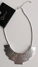 NEU Primark Statementkette Kette Halskette Collier Farbe Silber Party Blogger