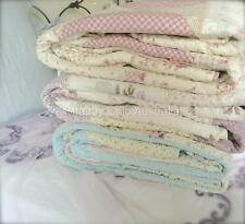 Girl's Double Bed Country Pink Country Kids Patchwork Quilt Bedspread Set New