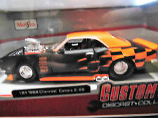 1968 CHEVROLET CAMARO Z28 BLOWN Diecast ORANGE 1/24 Maisto(NewIN box)REV BOYZ SA