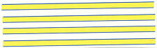 SET OF 4  blue yellow STRIPES DECAL IDEAL FOR CODE 3  1/43 police ambulances etc