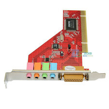 PCI 4 Channel C-Media 3D Audio PC Sound Card for XP Win 7 Red Board Adapter