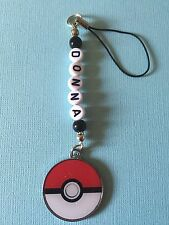 POKEMON  BALL Charm BAG /PHONE CHARMS PERSONALISED party BAG gift ANY NAME