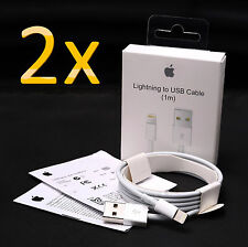 2 x Apple ORIGINAL GENUINE Lightning Data Cable Charger for iPhone 5 S C 6 iPad
