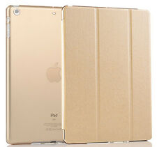 UK Smart Stand Magnetic Gold Leather Case Back Cover for Apple iPad Air 2 9.7 G5