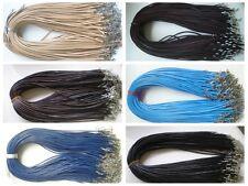 new Wholesale Bulk lot 60 pcs 6color PU Leather String 48CM Necklace Cords