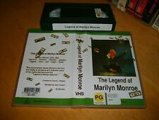 Vhs * The Legend of Marilyn Monroe * 1966 Documentary M.M.s life cradle to grave