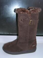 "ANIMAL ""PERU"" UK 5  Ladies Soft Brown Suede Leather Zip up Mid Calf Boots"