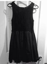 DOTTI Pretty short above knee dress black lace flare out stunning formal sexy