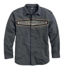 Genuine Harley-Davidson Mens L/S Colourblocked Woven Shirt, XX-Large, 96790-15VM