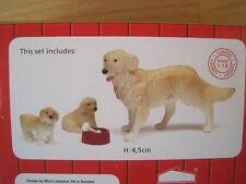 Puppenstube Hundefamilie Hunde Welpen NEU ideal für Hundeliebhaber Set1  Lundby