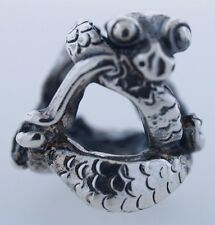 Authentic Trollbeads Baby Dragon 12302 New Silver Charm Bead