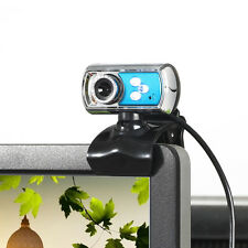 HD 12.0MP 3 LED USB Webcam Camera with Mic and Night Vision for PC Blue UK
