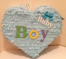 baby boy heart pi ata great for baby shower fill with candy and hit