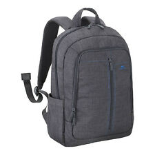 """RIVACASE 7560 WATER RESISTANT GREY CANVAS LIGHTWEIGHT BACKPACK FOR 15.6"""" LAPTOPS"""