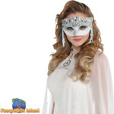 CRYSTAL SPARKLE MASQUERADE EYE MASK - womens ladies fancy dress accessory