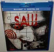 SAW THE COMPLETE MOVIE COLLECTION 1 2 3 4 5 6 & 7 NEW SEALED REGION FREE BLURAY