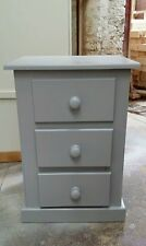 HAND MADE DEWSBURY FURNITURE EARL GREY 3 DRAWER BEDSIDE CABINET  (ASSEMBLED)