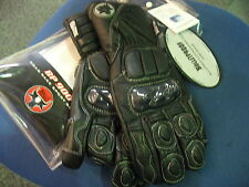 BP900 LEATHER & KEVLAR ARMOURED MOTORCYCLE BIKE GLOVES XS or S BLACK - NEW BNWT