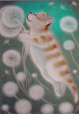 This cat's name is MOORKA and she is a dreamer...  Modern Unposted Russian card