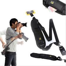 Quick Rapid Camera Shoulder Neck Strap Belt Black Sling for Canon Nikon Sony Hot