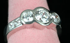 Genuine SOLID 925 STERLING SILVER CZ Engagement Wedding Cocktail Ring US Sz 6.75