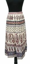 NEW LOOK Skirt Size 16 Beige Floral w/ Sequins Stretch L33in Boho Summer Party