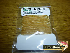 TAN MEDIUM CHENILLE RAYON HARELINE DUBBIN CARDED YARN - NEW FLY TYING MATERIAL