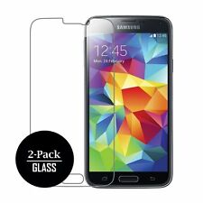 2 PACK x anti scratch Tempered Glass Film Screen Protector for Samsung Galaxy S5