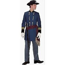 Mens Super Deluxe Civil War Captain Costume Soldier  Fancy Dress Medium