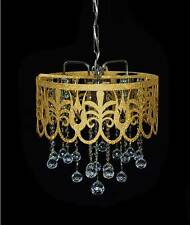 ORIENTAL CHANDELIER WITH REAL LEAD CRYSTAL in silver Gold o. Lilaf