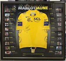 CADEL EVANS SIGNED AND FRAMED MAILLOT JAUNE TOUR DE FRANCE 2011 YELLOW JERSEY