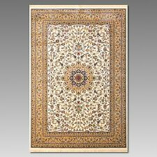 Kaschmir Teppich 230 x 160 cm Beige / Elfenbein Kunst-Seide / Viscose Webteppich